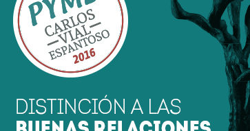 Abren postulaciones a Premio PYME Carlos Vial Espantoso 2016