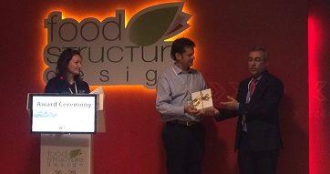 """Director del Magíster en Innovación recibe importante premio en Congreso Internacional """"Food Structure Design"""""""