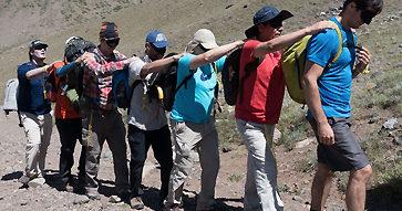 """Trekking """"Liderazgo en la Acción"""" a cargo de Rodrigo Jordán y Vertical Chile."""