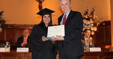 Ceremonia de graduación del Magister en Administración de Salud de la Universidad Católica