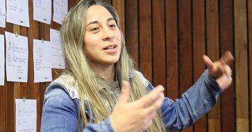 """Karin Sáez, cofundadora de Retidiag: """"Lo más importante de un emprendimiento no son las ideas, sino las personas""""."""